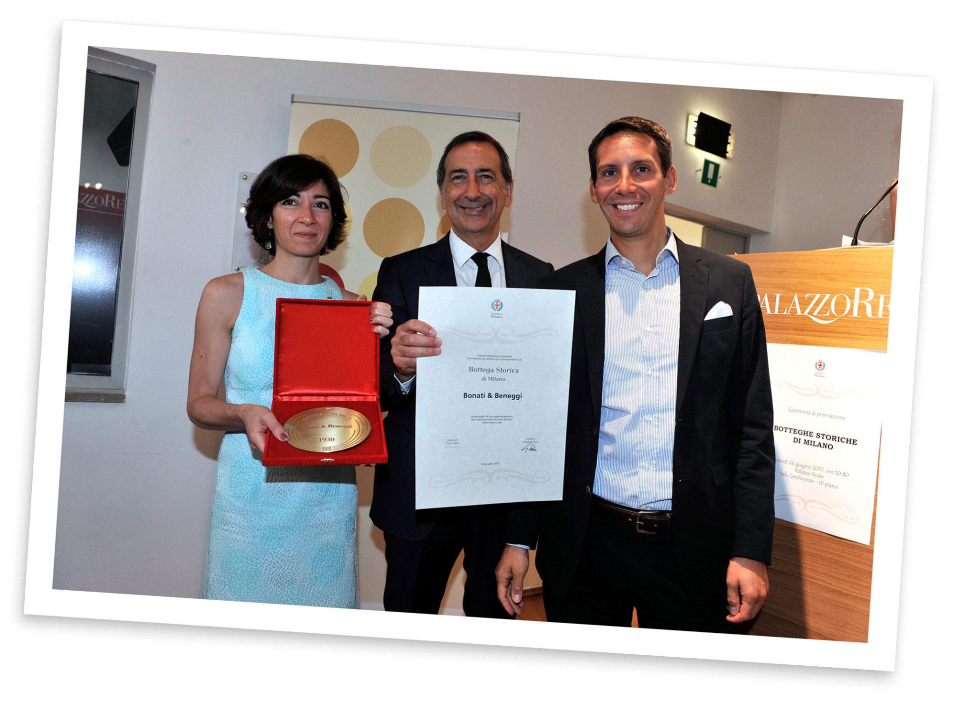 Foto premiazione Bonati e Beneggi